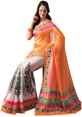 Radhecreation Printed Bollywood Handloom Art Silk Sari