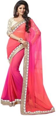 Panash Trends Plain Bollywood Art Silk Sari