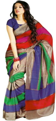 Dhanu Fashion Printed Bhagalpuri Printed Silk Sari