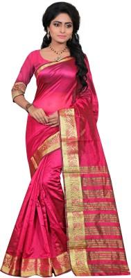 Indi Wardrobe Woven Maheshwari Handloom Silk Sari
