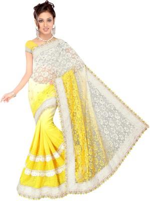 Shree Vallabh Embriodered Fashion Net, Georgette Sari