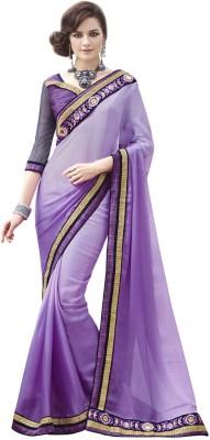 DesiButik Embriodered Fashion Satin, Chiffon Sari