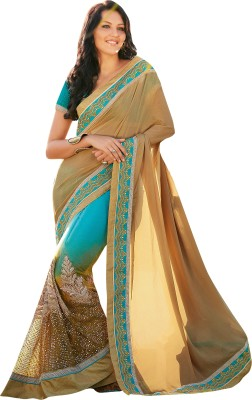 Brijraj Embriodered Fashion Net Sari
