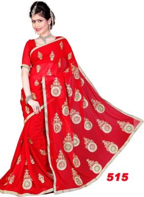 Dealtz Fashion Embriodered Fashion Georgette Sari