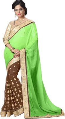 JDS FASHION Embriodered Banarasi Banarasi Silk Sari