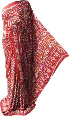 RAJASTHANI BANDEJ Printed Bandhej Synthetic Crepe Sari