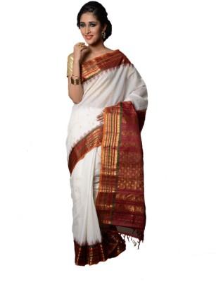 Appu Woven Gadwal Handloom Silk Cotton Blend Sari