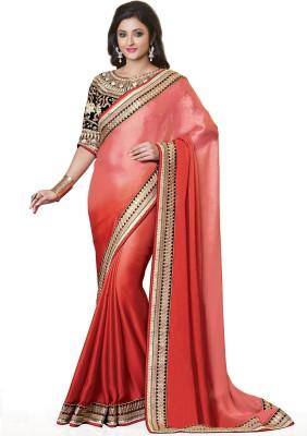 Style Merger Embriodered Fashion Satin Sari