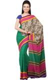 Jashn Embroidered Bollywood Crepe Saree ...
