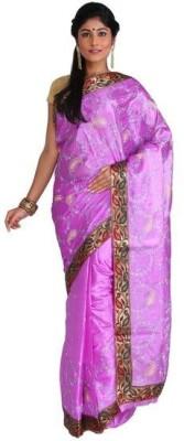 Nav Durga Applique, Embriodered, Woven Fashion Art Silk Sari