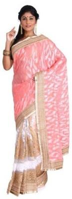 Nav Durga Solid, Applique Bhagalpuri Art Silk Sari