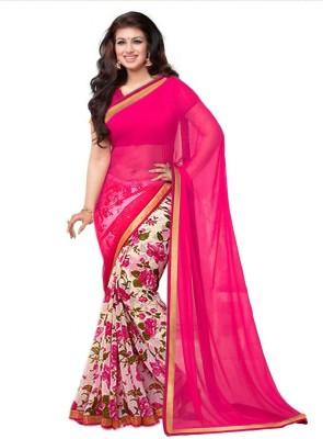 Mahi Fashion Printed Bollywood Chiffon Sari