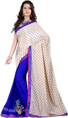 Aryansh Designers Graphic Print Fashion Georgette Sari