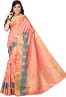 Rani Saahiba Self Design Kanjivaram Jacquard, Art Silk Sari(Orange)