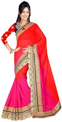 aivi fashion Embriodered Bollywood Pure Georgette Sari