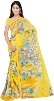 Varni Retail Printed Assam Silk Art Silk Sari