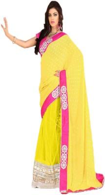 Anushree Self Design Lehenga Saree Georgette, Net Sari