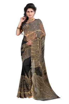 SareeShop Printed, Striped Fashion Georgette Sari
