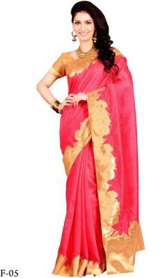 La,ethnic Applique Fashion Handloom Art Silk Sari