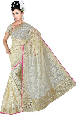 G-Tex Prints Embriodered Bollywood Net Sari