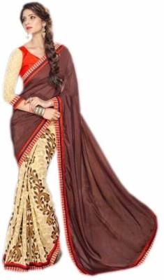 KL COLLECTION Printed Fashion Georgette, Satin Sari