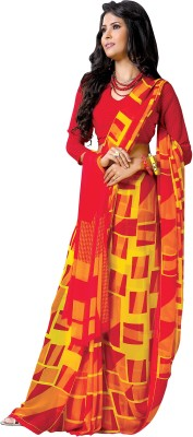 Vachi Geometric Print Fashion Pure Georgette Sari