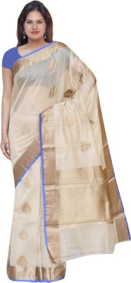 EthnicRoom Printed Chanderi Handloom Silk Sari