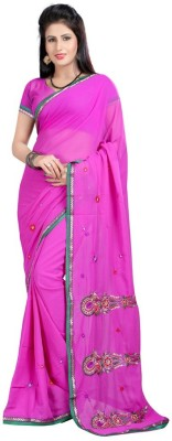 Alberts Embriodered Bollywood Georgette Sari