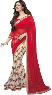 Ak Sales Floral Print Fashion Georgette Sari