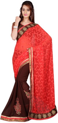 The Core Fashion Embriodered Fashion Jacquard, Brasso Sari