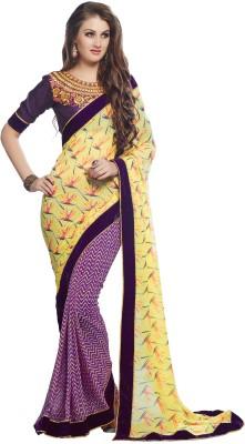 Craze N Demand Printed Fashion Georgette Sari