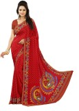 Kunal Self Design Bollywood Crepe Saree ...