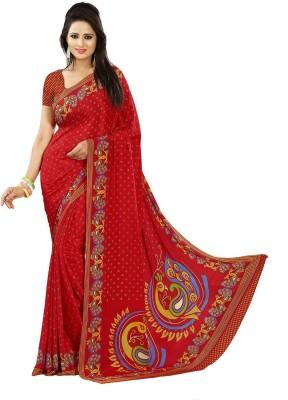Zeena Printed Bollywood Crepe Sari