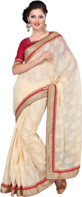 FNF Self Design Fashion Brasso, Net Sari