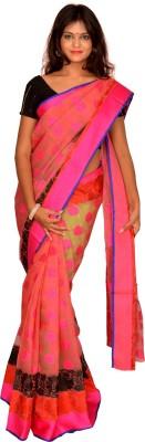 Jagadamba Self Design Bollywood Cotton Sari