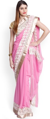 Utsava Plain Bollywood Chiffon Sari