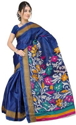 The Designer House Printed Kota Doria Art Silk Sari