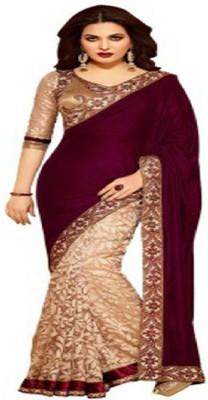 Ridhhi Handwork Self Design Bollywood Brasso Fabric Sari