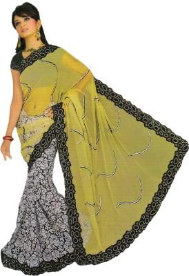 Amisha Creation Embriodered Fashion Chiffon Sari