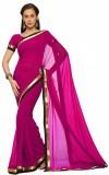 JDX Plain Bollywood Georgette Saree (Pur...