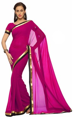 JDX Plain Bollywood Georgette Sari