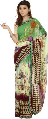 Sri Sai Vastra Floral Print Daily Wear Silk Sari