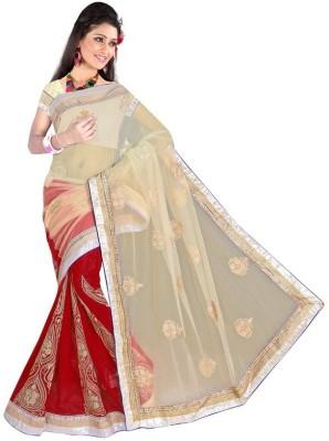 Sundari Fashion Embriodered Fashion Net, Georgette Sari