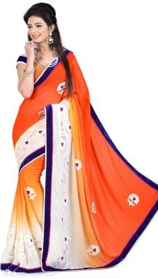 Maniya Embriodered Fashion Georgette Sari