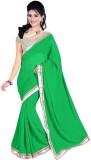 Mahadevi Plain Daily Wear Chiffon Saree ...