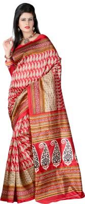 Wholetex Printed Fashion Poly Silk Sari
