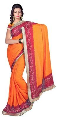 ASN Printed Bandhani Chiffon Sari