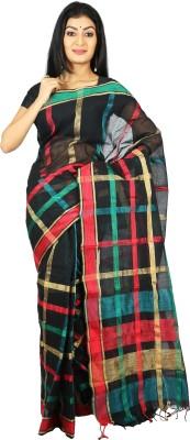 Womilo Checkered That Cotton Sari