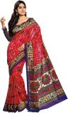 K D Collection Printed Daily Wear Silk S...