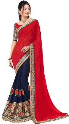 Glory Sarees Embriodered Bollywood Georgette Sari